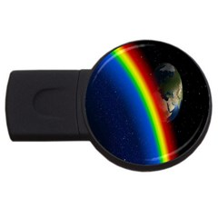 Rainbow Earth Outer Space Fantasy Carmen Image USB Flash Drive Round (1 GB)