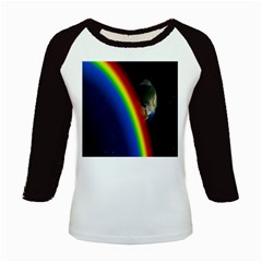 Rainbow Earth Outer Space Fantasy Carmen Image Kids Baseball Jerseys