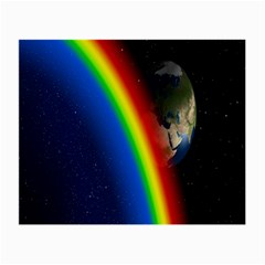 Rainbow Earth Outer Space Fantasy Carmen Image Small Glasses Cloth