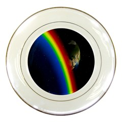 Rainbow Earth Outer Space Fantasy Carmen Image Porcelain Plates
