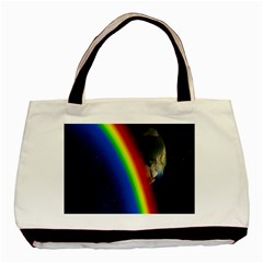 Rainbow Earth Outer Space Fantasy Carmen Image Basic Tote Bag