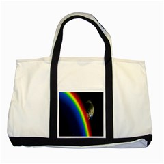 Rainbow Earth Outer Space Fantasy Carmen Image Two Tone Tote Bag