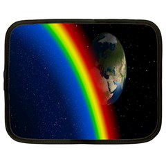 Rainbow Earth Outer Space Fantasy Carmen Image Netbook Case (Large)