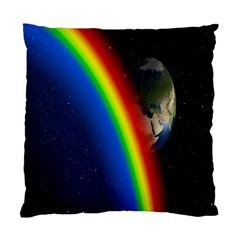 Rainbow Earth Outer Space Fantasy Carmen Image Standard Cushion Case (two Sides)