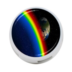 Rainbow Earth Outer Space Fantasy Carmen Image 4-Port USB Hub (Two Sides)