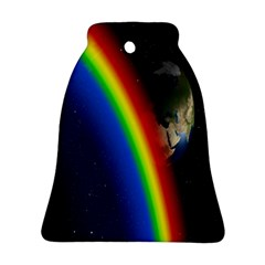 Rainbow Earth Outer Space Fantasy Carmen Image Ornament (bell)