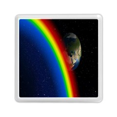 Rainbow Earth Outer Space Fantasy Carmen Image Memory Card Reader (square)