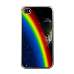 Rainbow Earth Outer Space Fantasy Carmen Image Apple iPhone 4 Case (Clear)