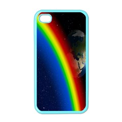 Rainbow Earth Outer Space Fantasy Carmen Image Apple iPhone 4 Case (Color)