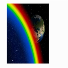 Rainbow Earth Outer Space Fantasy Carmen Image Large Garden Flag (Two Sides)