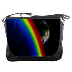 Rainbow Earth Outer Space Fantasy Carmen Image Messenger Bags