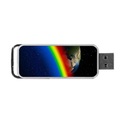 Rainbow Earth Outer Space Fantasy Carmen Image Portable USB Flash (One Side)
