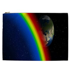 Rainbow Earth Outer Space Fantasy Carmen Image Cosmetic Bag (XXL)