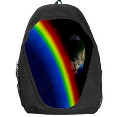 Rainbow Earth Outer Space Fantasy Carmen Image Backpack Bag