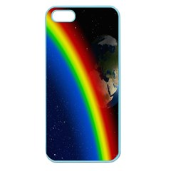 Rainbow Earth Outer Space Fantasy Carmen Image Apple Seamless Iphone 5 Case (color)