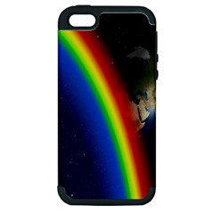 Rainbow Earth Outer Space Fantasy Carmen Image Apple iPhone 5 Hardshell Case (PC+Silicone)