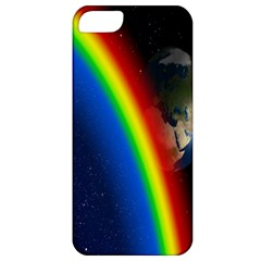Rainbow Earth Outer Space Fantasy Carmen Image Apple iPhone 5 Classic Hardshell Case