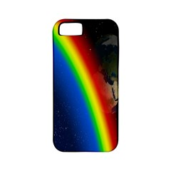 Rainbow Earth Outer Space Fantasy Carmen Image Apple iPhone 5 Classic Hardshell Case (PC+Silicone)