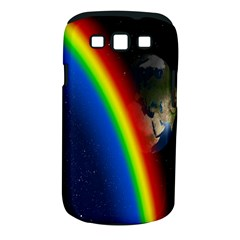 Rainbow Earth Outer Space Fantasy Carmen Image Samsung Galaxy S III Classic Hardshell Case (PC+Silicone)