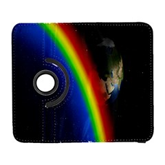 Rainbow Earth Outer Space Fantasy Carmen Image Galaxy S3 (Flip/Folio)