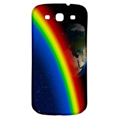 Rainbow Earth Outer Space Fantasy Carmen Image Samsung Galaxy S3 S III Classic Hardshell Back Case
