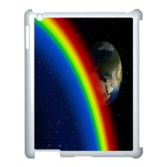 Rainbow Earth Outer Space Fantasy Carmen Image Apple iPad 3/4 Case (White)