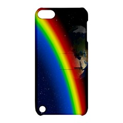 Rainbow Earth Outer Space Fantasy Carmen Image Apple iPod Touch 5 Hardshell Case with Stand