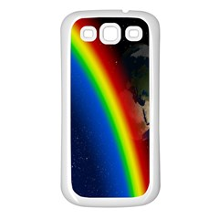 Rainbow Earth Outer Space Fantasy Carmen Image Samsung Galaxy S3 Back Case (White)