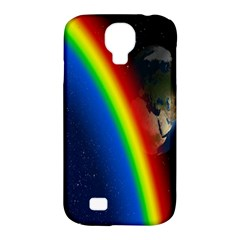 Rainbow Earth Outer Space Fantasy Carmen Image Samsung Galaxy S4 Classic Hardshell Case (PC+Silicone)