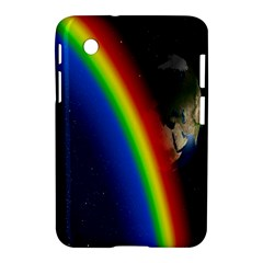 Rainbow Earth Outer Space Fantasy Carmen Image Samsung Galaxy Tab 2 (7 ) P3100 Hardshell Case