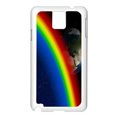 Rainbow Earth Outer Space Fantasy Carmen Image Samsung Galaxy Note 3 N9005 Case (White)