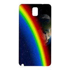 Rainbow Earth Outer Space Fantasy Carmen Image Samsung Galaxy Note 3 N9005 Hardshell Back Case