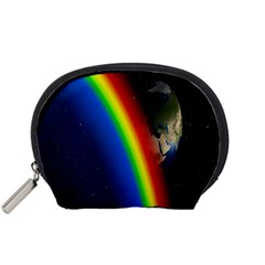 Rainbow Earth Outer Space Fantasy Carmen Image Accessory Pouches (Small)