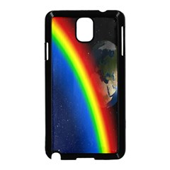 Rainbow Earth Outer Space Fantasy Carmen Image Samsung Galaxy Note 3 Neo Hardshell Case (Black)