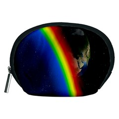 Rainbow Earth Outer Space Fantasy Carmen Image Accessory Pouches (medium)