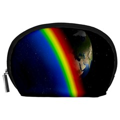Rainbow Earth Outer Space Fantasy Carmen Image Accessory Pouches (Large)