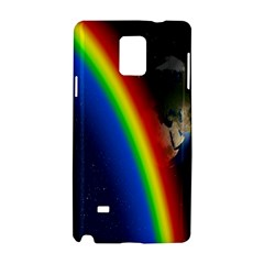 Rainbow Earth Outer Space Fantasy Carmen Image Samsung Galaxy Note 4 Hardshell Case
