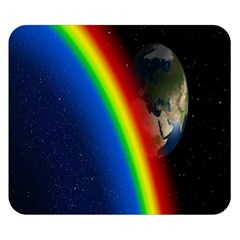 Rainbow Earth Outer Space Fantasy Carmen Image Double Sided Flano Blanket (Small)