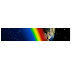 Rainbow Earth Outer Space Fantasy Carmen Image Flano Scarf (Large)
