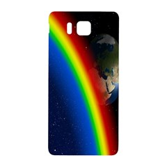 Rainbow Earth Outer Space Fantasy Carmen Image Samsung Galaxy Alpha Hardshell Back Case