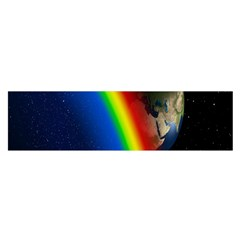 Rainbow Earth Outer Space Fantasy Carmen Image Satin Scarf (Oblong)
