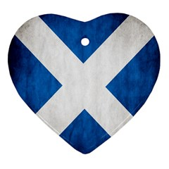 Scotland Flag Surface Texture Color Symbolism Ornament (heart)