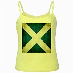 Scotland Flag Surface Texture Color Symbolism Yellow Spaghetti Tank
