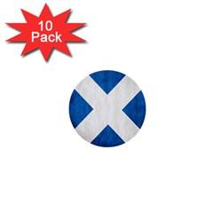 Scotland Flag Surface Texture Color Symbolism 1  Mini Buttons (10 pack)