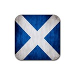 Scotland Flag Surface Texture Color Symbolism Rubber Coaster (Square)  Front