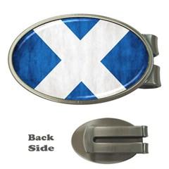 Scotland Flag Surface Texture Color Symbolism Money Clips (oval)