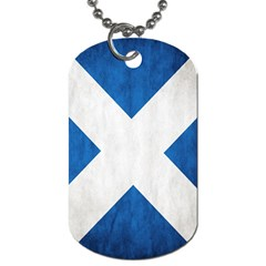 Scotland Flag Surface Texture Color Symbolism Dog Tag (One Side)