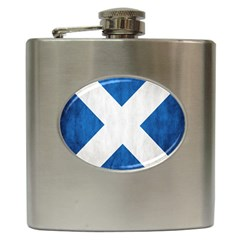 Scotland Flag Surface Texture Color Symbolism Hip Flask (6 oz)