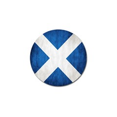 Scotland Flag Surface Texture Color Symbolism Golf Ball Marker (10 pack)