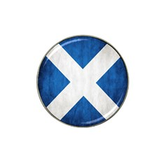 Scotland Flag Surface Texture Color Symbolism Hat Clip Ball Marker (4 pack)